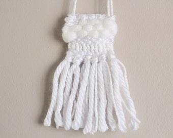 White Monochrome Woven Necklace