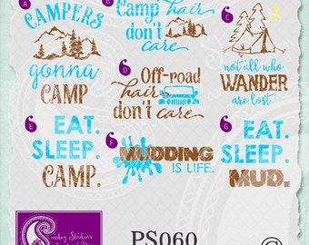PS060 - Camping/Outdoor Vectors; ai, eps, svg, gsd, dxf; (png files and jpeg files also available )