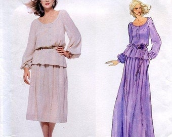 FREE US SHIP Vogue 1836 Vintage Retro 1970s 70s Paris Original Designer Christian Dior Top Skirt Maxi Uncut Sewing Pattern Size 10 ff