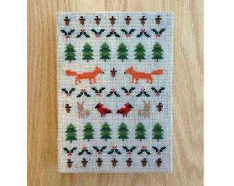 Woodland Winter - Modern cross stitch pattern PDF - Instant download