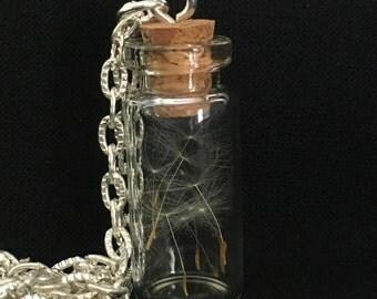 Dandelion Seed Vial Pendant