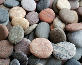 Round Sea Stones -Bulk 100 pcs Small-Baltic Beach Stones-Sea Pebbles