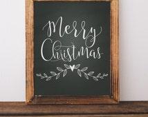 Digital Download//Merry Christmas Printable//Christmas Printable//5x7//8x10