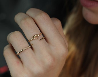 knot ring, gold knot ring, Infinity ring, cute gold ring, delicate ring, eternity ring - knot Ring  - dainty ring