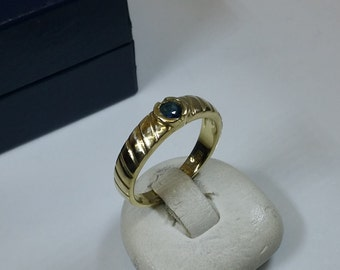 Gold Ring sapphire ring gold 333 vintage old GR200