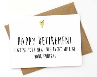 Funny Retirement  Card