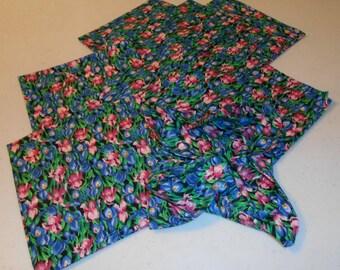 Spring Tulip Cotton Handmade Napkins (8)