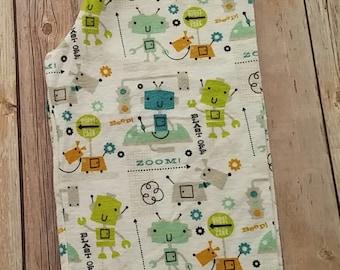 Handmade Flannel Robot Pajama Pants Size 2T