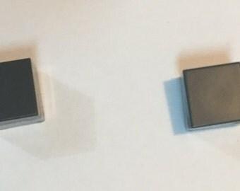 Minecraft gray stone earrings