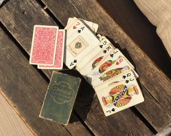 Vintage Antique Congress 606 Bridge Playing Cards, Vintage Cards, Deck of Cards