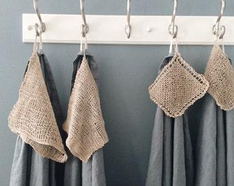 100% Organic Hemp Washcloth - ecofriendly -body friendly-  natural-  fair trade