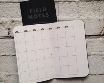 Month on 2 Pages Traveler's Notebook Insert [Handstitched] FIELD NOTES Sized