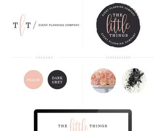 Blog Branding Logos Blog Logo Design Stamp Logo Design Cursive Font Logo