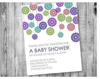 Colorful Baby Shower Invite