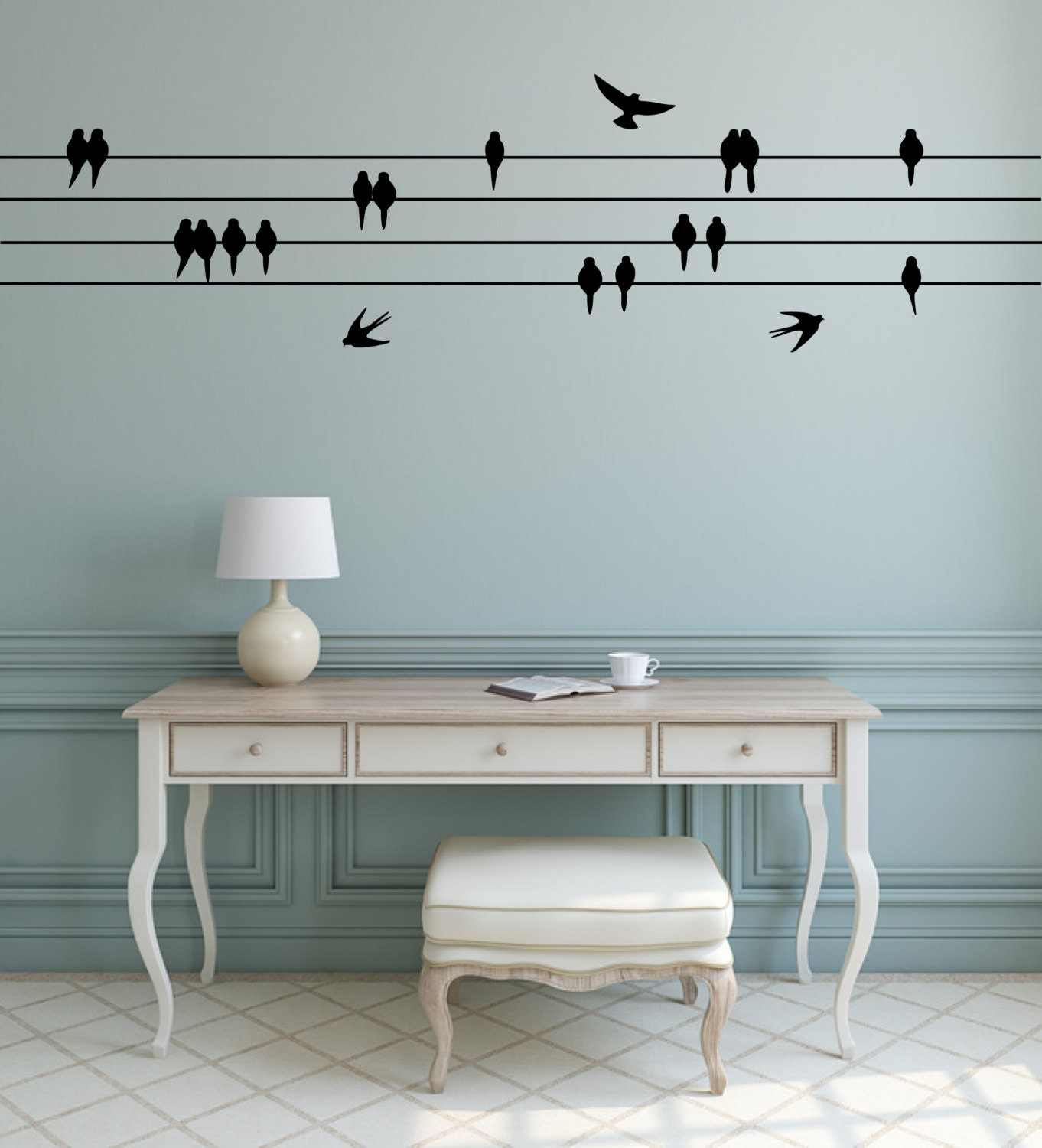 Perched birds wall sticker sitting flying birds bird zoom amipublicfo Images