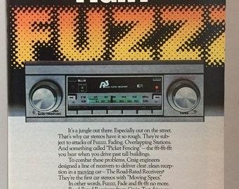 1980 Craig Car Stereo Receiver Print Ad