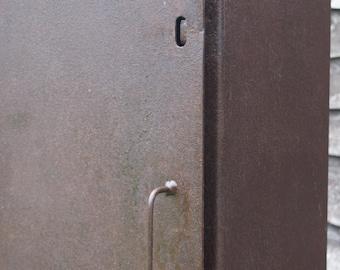 Steel antique gun/engineers cabinet