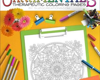 "Butterfly Coloring Page Mandala - ""Butterfly Daze"" OrnaMENTALs #0033 PDF"