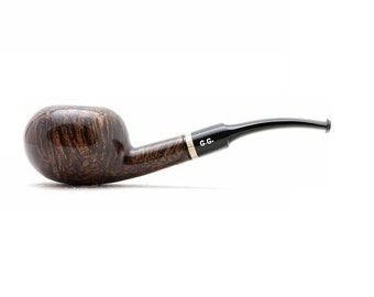 "Tobacco Smoking Pipe Briar Metal filter 5,51"" NEW Unsmoked Smooth Tomate Brown pipe extra extra Briar ebonite stem excellent quality + GIFT"