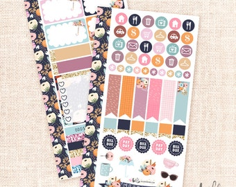Rainy Days - Personal planner sticker kit / 2 sheets