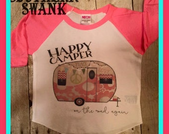 Toddler Happy Camper Raglan Shirt
