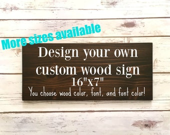 Custom Wood Signs Wooden Signs Custom Sign Wood Housewarming Gift Personalized Bar