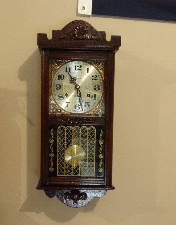 Alaron Clock 31 Day Wood Wall Clock Vintage
