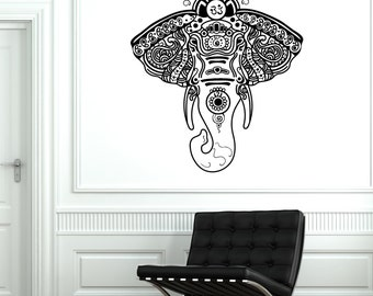 Wall Vinyl Elephant African Animals Ornament Mural Vinyl Decal 1751dz