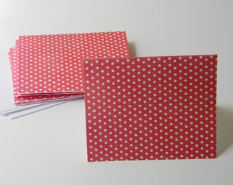 Red and White Blank Note Card Stationary Set (6 cards with envelopes)