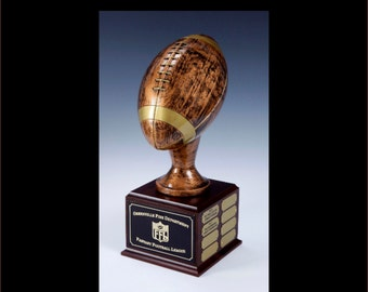 "24 Year Perpetual FANTASY FOOTBALL TROPHY Lifesize 17"" Tall"