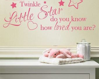 Twinkle twinkle wall art sticker