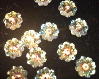 Swarovski Marguerite Beads, 8mm, Crystal AB, 2-3700-005, 6 Beads, Austrian Crystal
