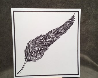Feather - Pen and Ink