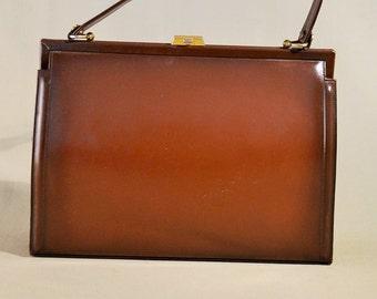 Vintage Brown Corina Bally Arola Leather Bag, Ladybag, Handbag, Handpurse, Evening Bag, Office Bag