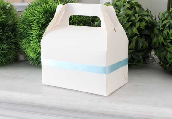 Wedding Favor Boxes White : White favor boxes wedding gable gift candy