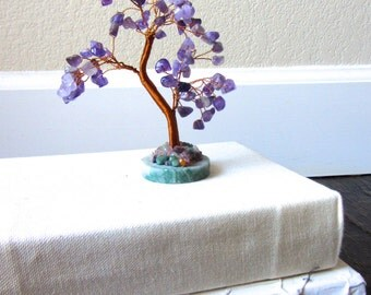 SALE* Amethyst & Wire Gem Tree