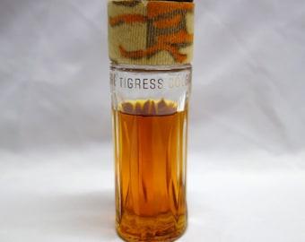 Vintage 1960's Faberge TIGRESS Cologne 2.0 Fl Oz Fur Cap Perfume Bottle 75-80% Full