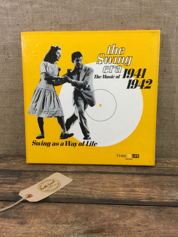 "Vintage Vinyl Record Swing Music Box Set - The Swing Era 1941 - 1942 - 3 x 12"" Records and Book in Boxed Cover Set - Swing Music Records by"