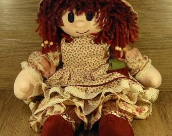 Rag Doll - Cream & Red