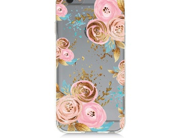 iPhone 7 Clear Case - Roses  - Protective TPU cover for iPhone 7 - 7 plus - iPhone 6s -  6s plus - Samsung Galaxy s5 s6 s7 Note 7