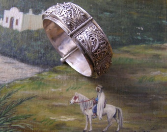 Ethnic silver - Morocco-Tunisia-Algeria-Berber - vintage bracelet 1930-Tribal Jewelry - Silver tribal armlet