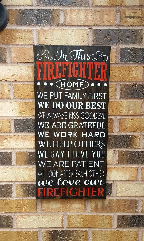 In This Firefighter Home Firefighter Decor Firefighter Sign