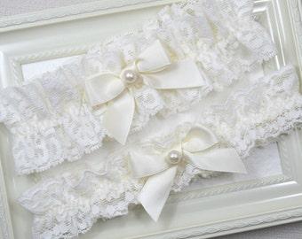 Wedding Garter Set, Bridal Garter, Ivory Wedding Garter, Blue Garter, Ivory Garter, Blue Garter Set, Diamond Garter, Garter Set, Blue Garter
