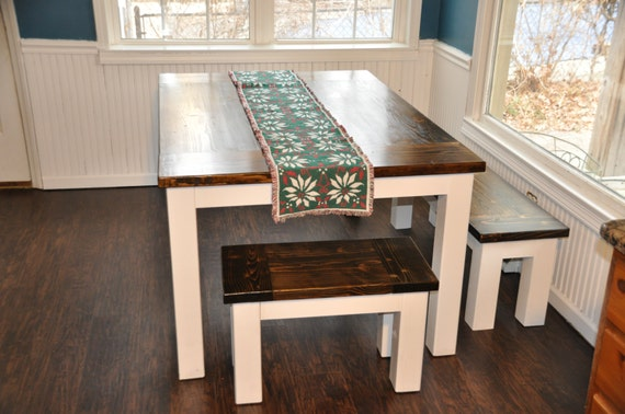 handcrafted dining room table farmhouse table solid wood