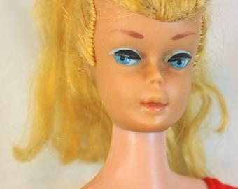 Original Vintage Barbie Doll Swirl Ponytail 1964
