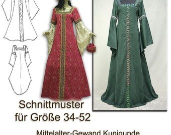 Schnittmuster Mittelalterkleid e-book sewing pattern S-XXXL