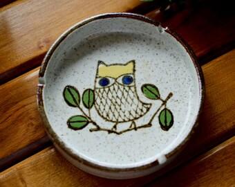 Vintage Ceramic Owl Ashtray