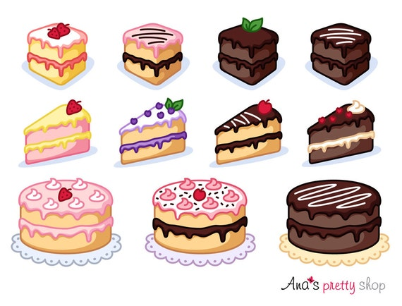 Cake clipart piece of cake clipart bakery clipart pastry (570 x 434 Pixel)