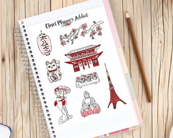 I Love Tokyo Travel Planner Stickers (S-165)