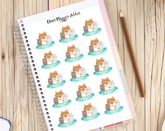 Cute Cats Family Fun Time Planner Stickers (S-123)